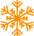 Detailed Orange Snowflake 2