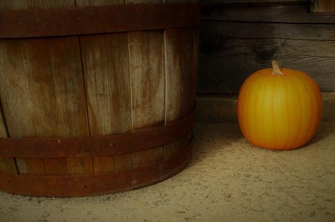 Pumpkin and Barrel