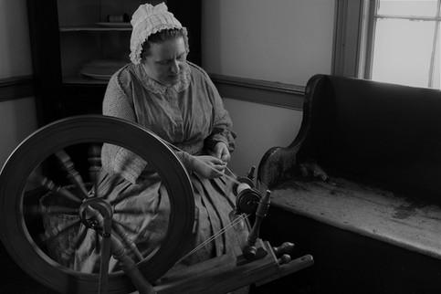 Woman Spinning Yarn