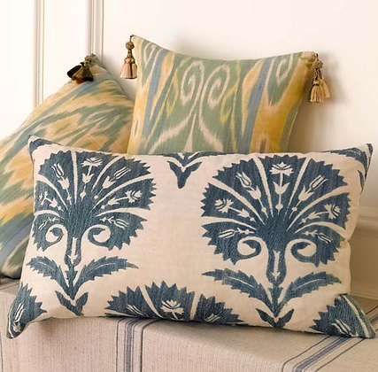 cotton ikat cushions