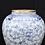 Thumbnail: Pair Large Blue and White Nanking Porcelain Temple Jars