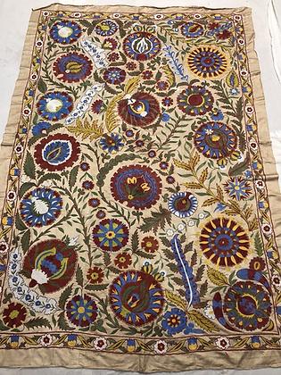 Vintage hand embroidered Suzani, Bukhara, Uzbekistan