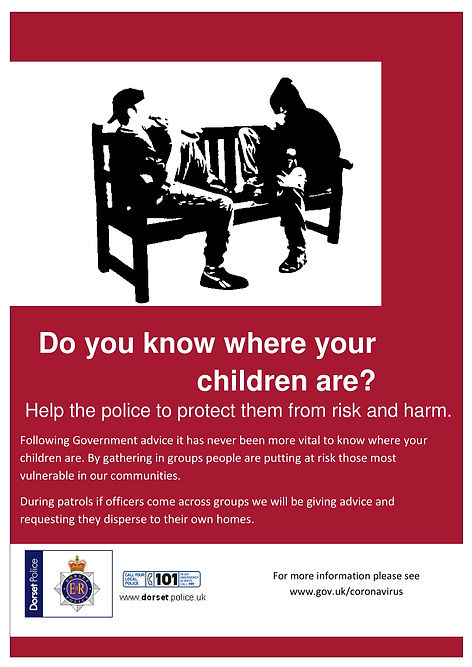 Dorset Police ASB  COVID-19 poster for p
