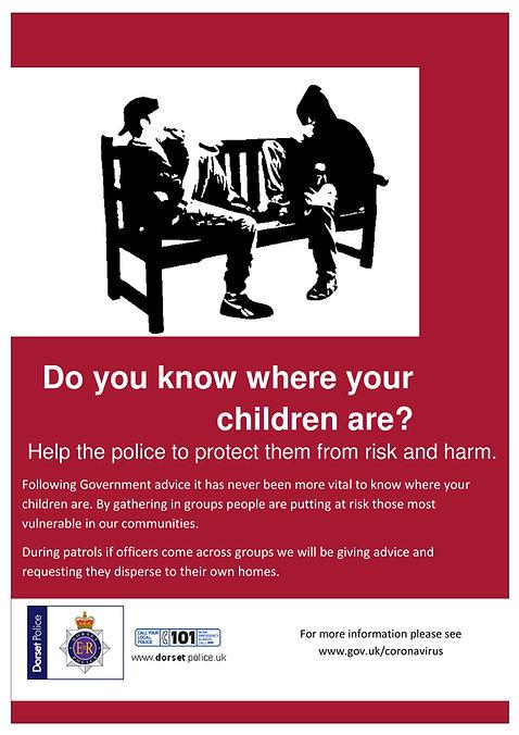 Dorset Police ASB  COVID-19 poster for p