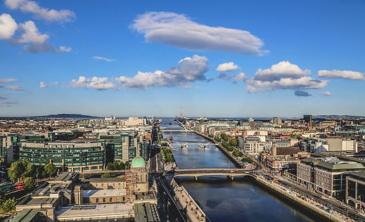 A vie of the Liffey through Dublin City