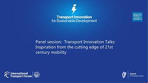 Panel session Transport Innovation Talks