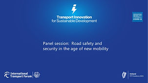 Panel session -  Road safety and security in the age of new mobility.jpg