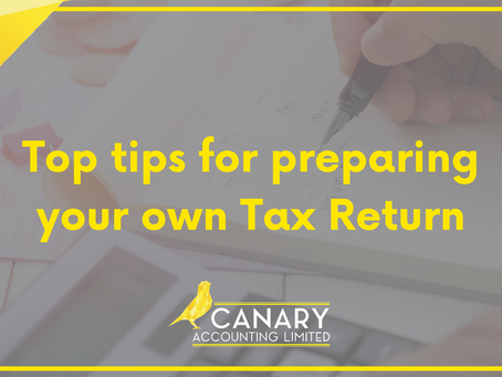Top tips for preparing your own Tax Return