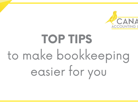 Top tips to make bookkeeping easier for you