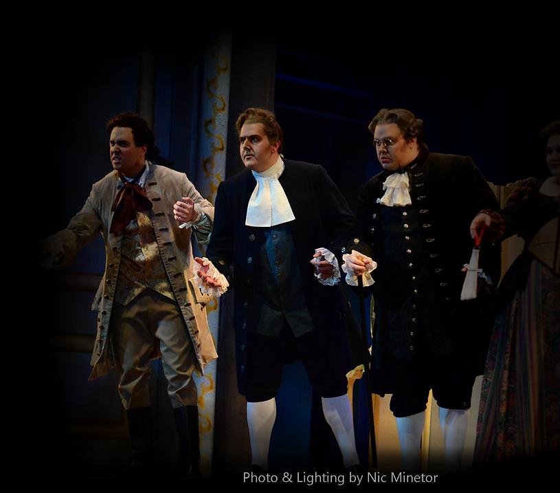 Nicholas Huff as Basilio in Mozart Le nozze di Figaro