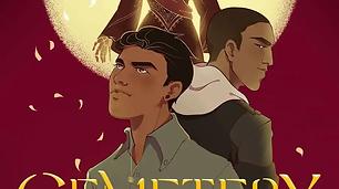The cover for the novel Cemetery Boys