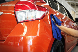 Car body work auto repair paint after th