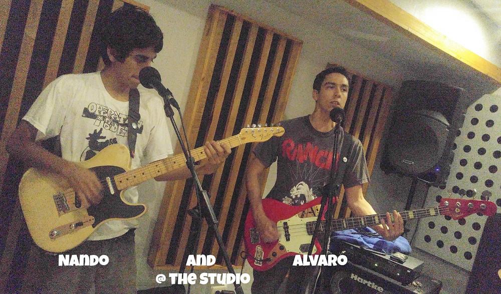Nando and Alvaro of Adictos Al Bidet at the studio