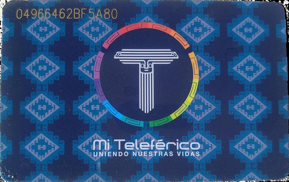 Mi Teleférico Bolivian transit card front