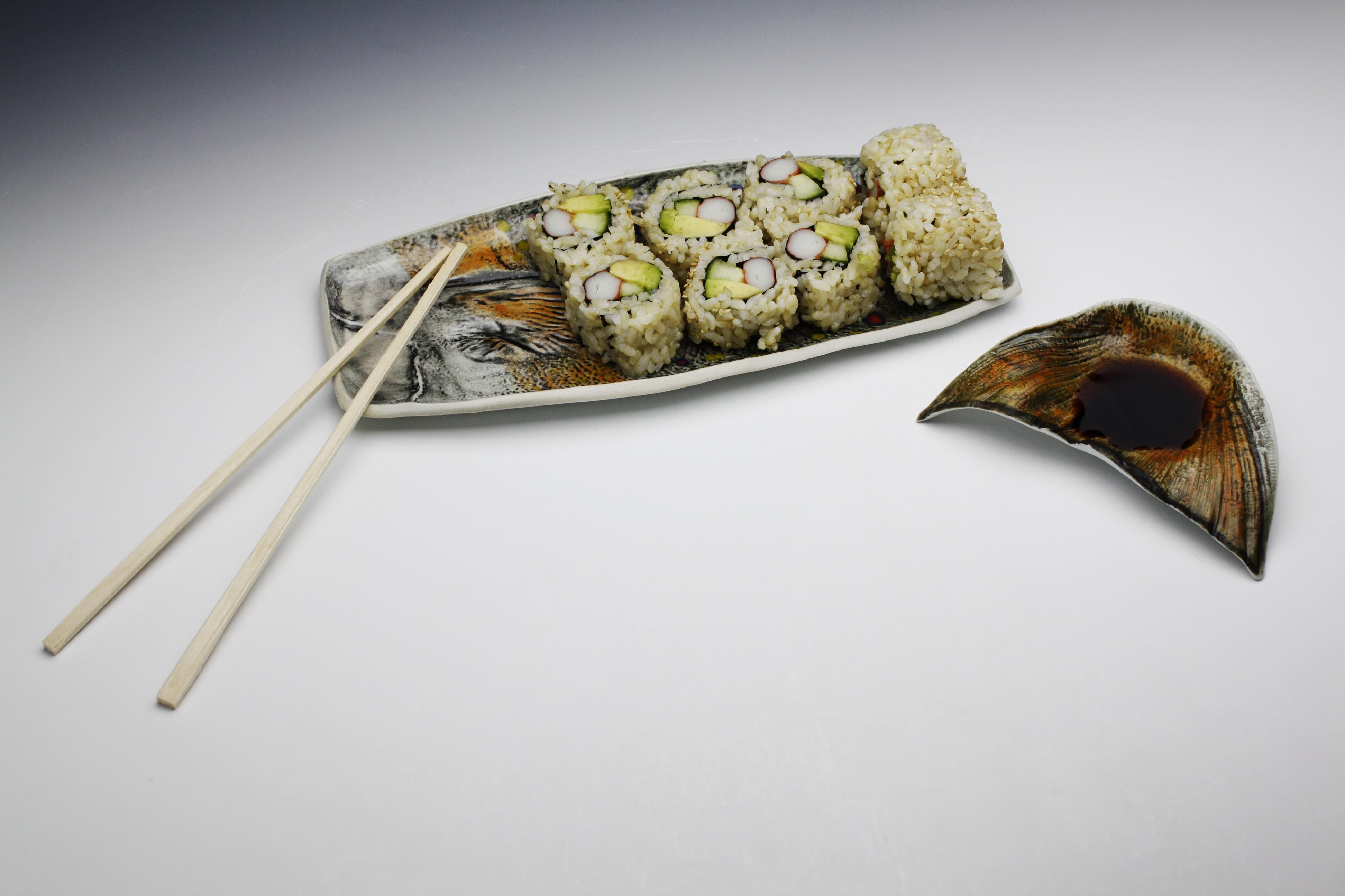 Trout Sushi Dish