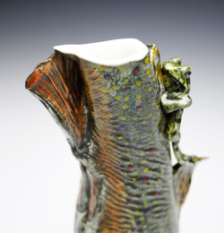 Brook Trout Vessel with Frog
