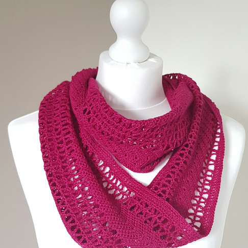 Ethereal Ruby Lace Cowl