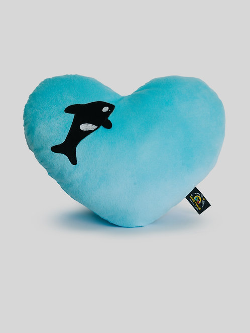 Cojín Corazón Orca