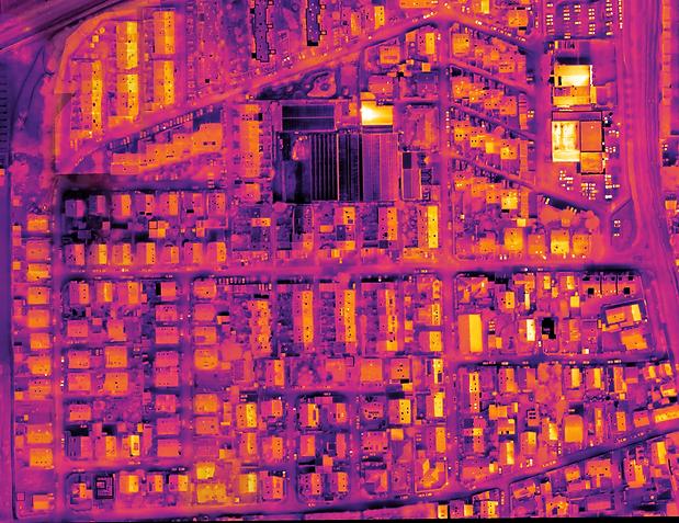 Großflächen Thermografie Stadtteil