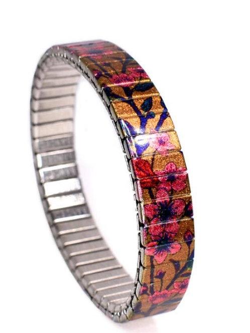 Bracelet extensible or & rouge 10