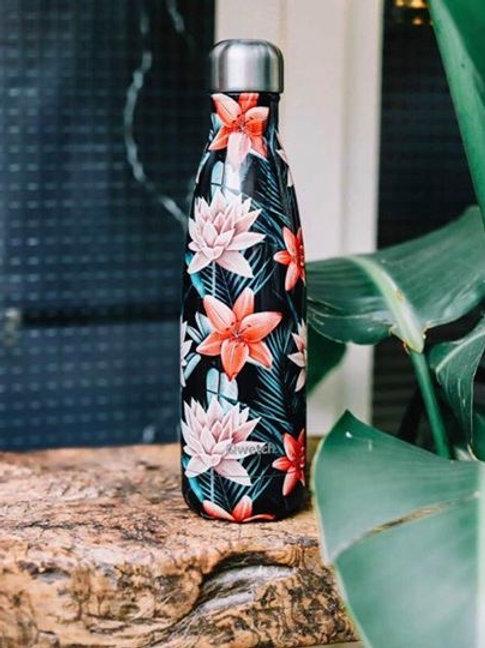 Bouteille isotherme - Tropical Fleur Noire - 500ml