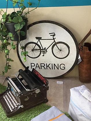 Plaque Ronde Vélo Métal