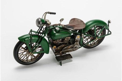 Moto vintage verte