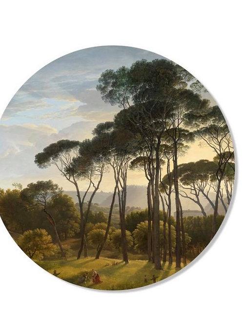 Cercle mural paysage 30cm