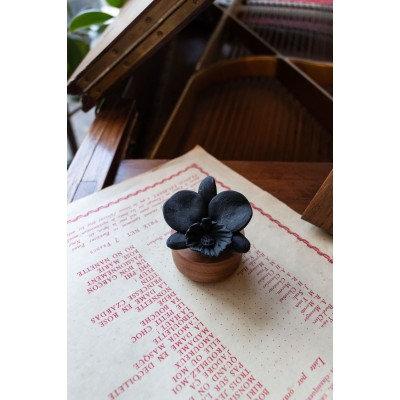Diffuseur de parfum orchidée du Népal noire
