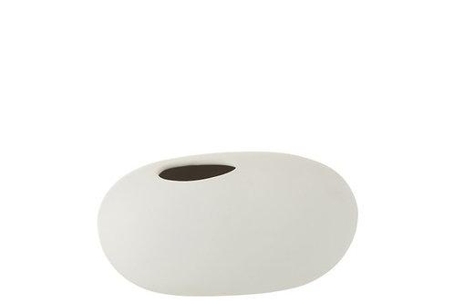 Vase ovale blanc