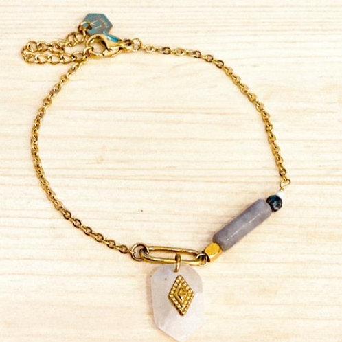Bracelet quartz blanc