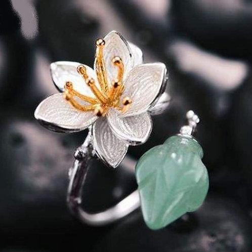 Bague fleur aventurine