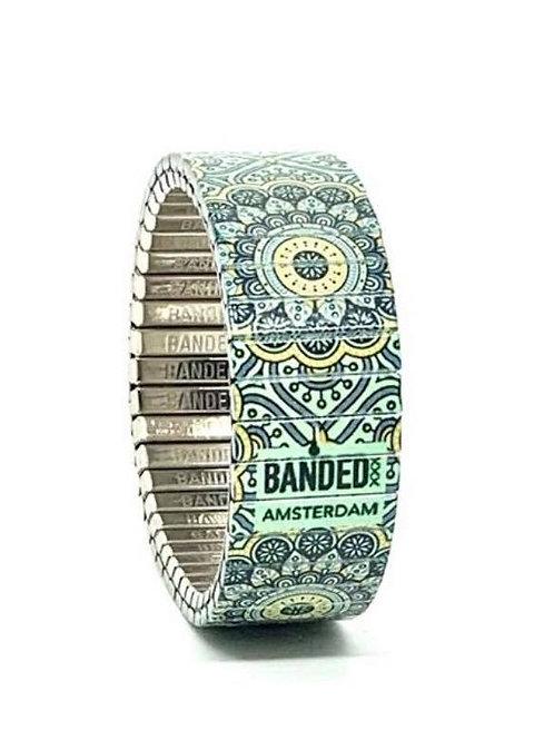 Bracelet extensible vert 18