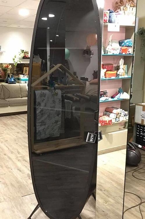 Armoire Ovale Métal/Verre Noir