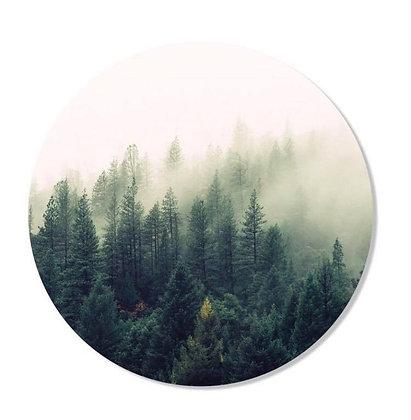 Cercle mural Forêt de pins 50cm