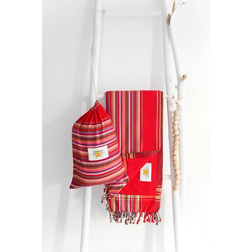 Serviette de plage rouge