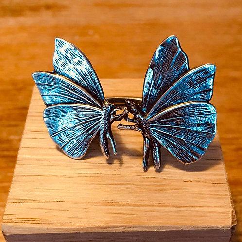 Bague double papillon