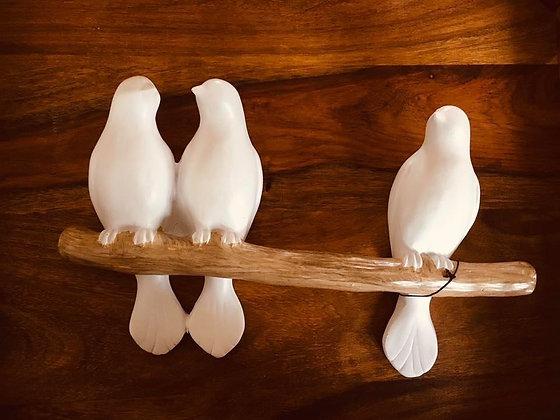 3 oiseaux sur une branche - décoration murale