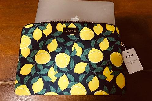 """Pochette ordinateur 13"""" - Citrons"""