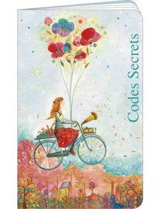 """Carnet de codes secrets """"Bicyclette à fleurs"""" J. Weyman"""