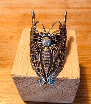Bague papillon filigrane