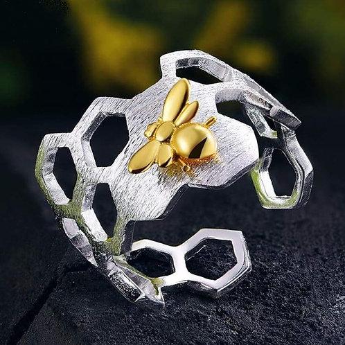 Bague nid d'abeilles