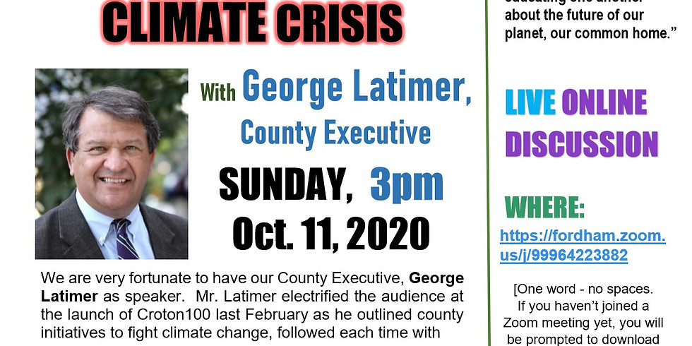 Sustainable Sunday Speaker Series:  Westchester County Attacks the Climate Crisis
