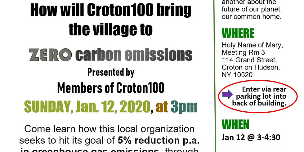 Croton100.org - How to bring Croton to ZERO Greenhouse Gas Emissions by 2040