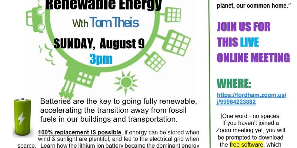 Sustainable Sundays Speaker Series - Storing Renewable Energy