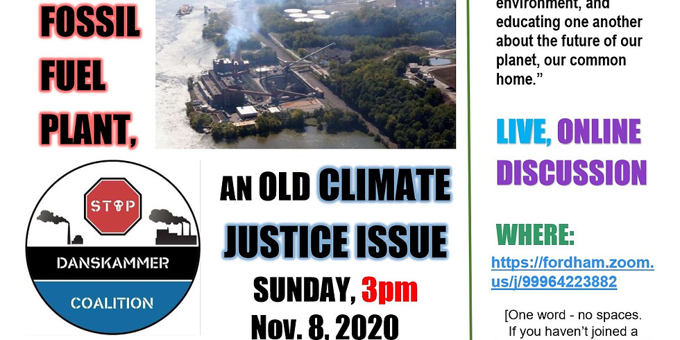 Sustainable Sundays Speaker Series - Danskammer, a New Fossil Fuel Plant, an Old Climate Justice Issue