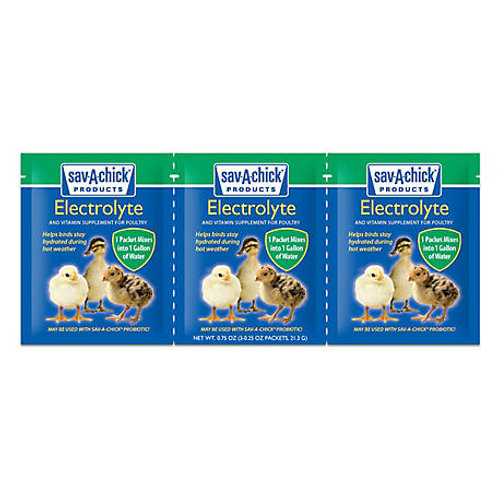 Electrolyte & Vitamin Supplement, 0.25 oz, Pack of 3