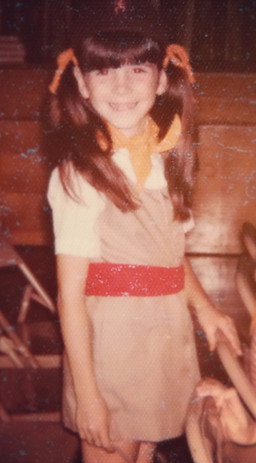 Barb as a Brownie Scout