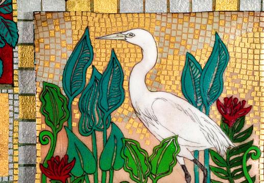 Floridance Quilt: Egret (Detail)