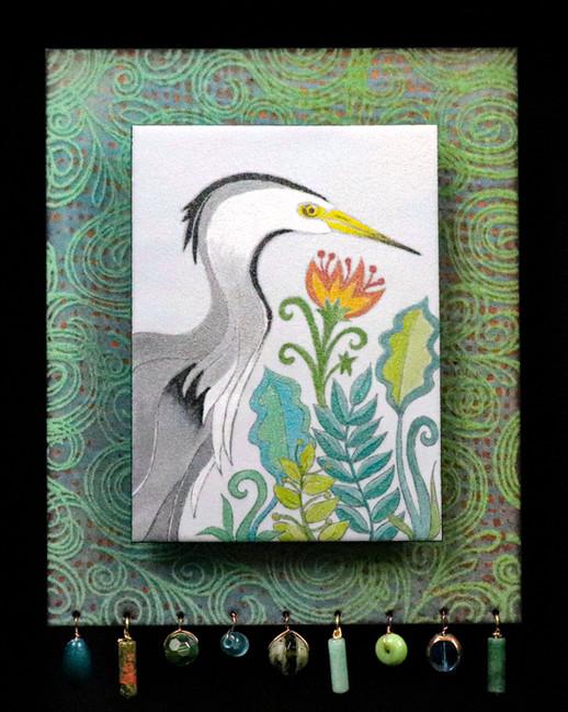 Swamp Garden Heron